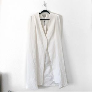 NWT Lavish Alice White Cape Duster Vest